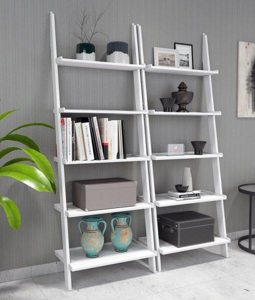home decor ladder shelf white for sale