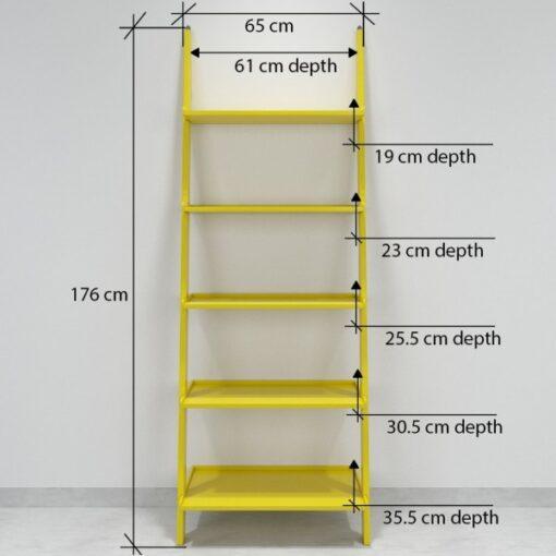 home decor ladder shelf yellow for sale