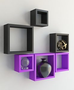 home decoration wall racks purple black