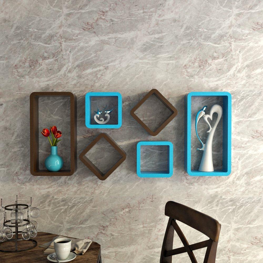 mdf wall shelves cube rectangle shape