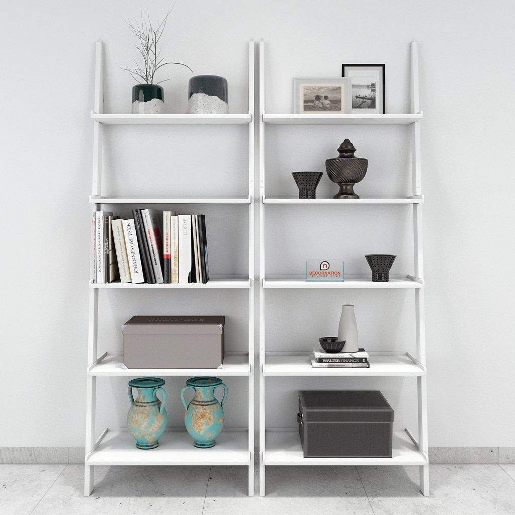modern style designer ladder shelf white for sale