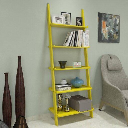modern style designer ladder shelf yellow for sale
