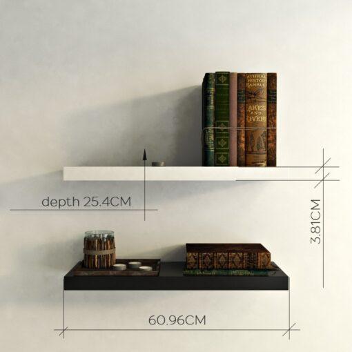 mounted wall racks for bedroom decor black white
