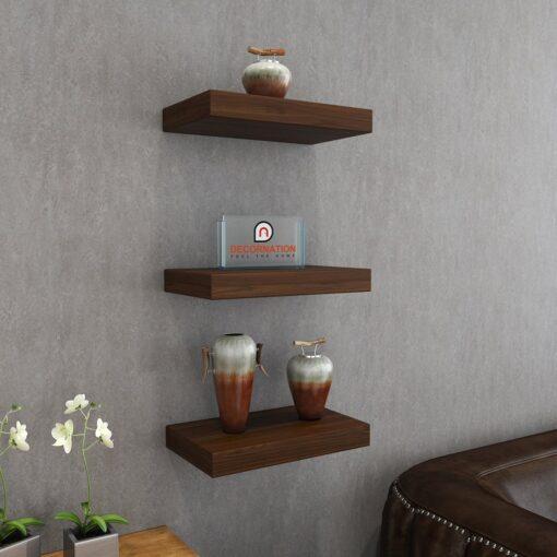 mounted wall racks rich walnut for display