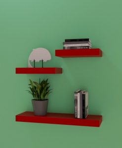 online sale wall rack unit red small medium shelves