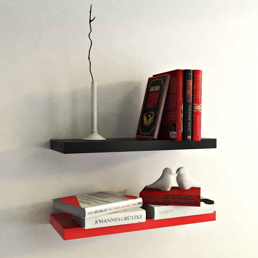 red and black designer wall shelves for sale