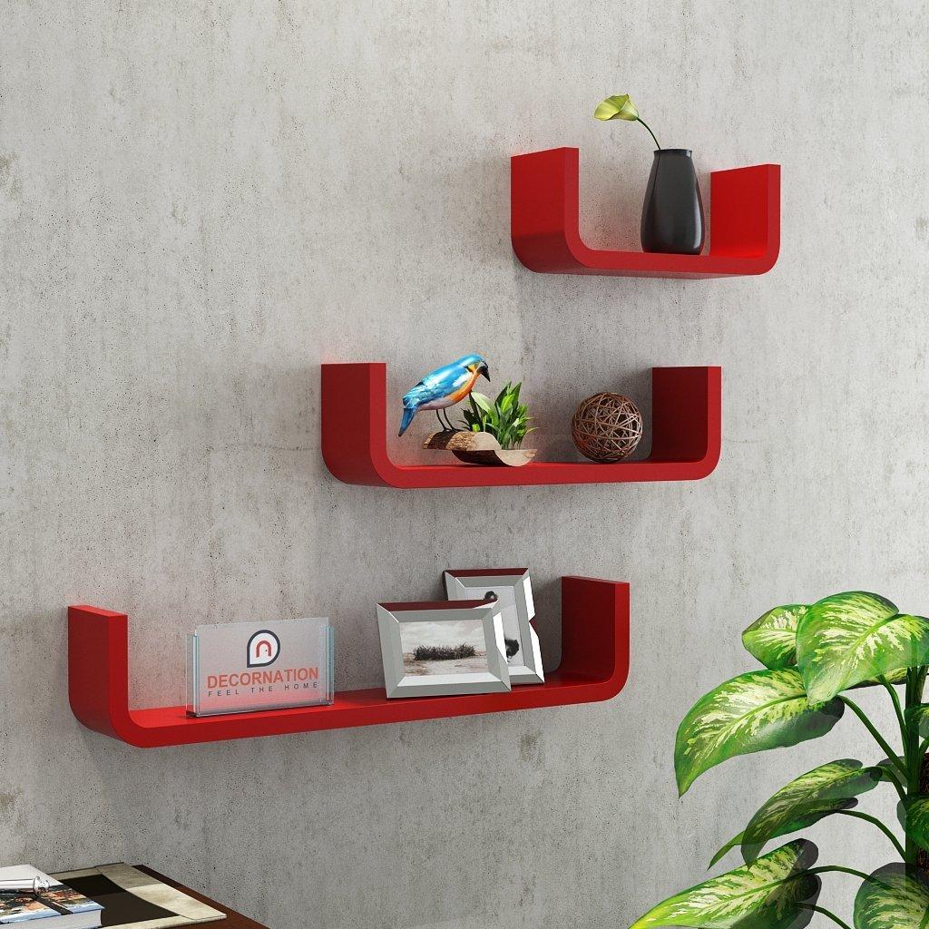 red u shape round corner wall racks for sale