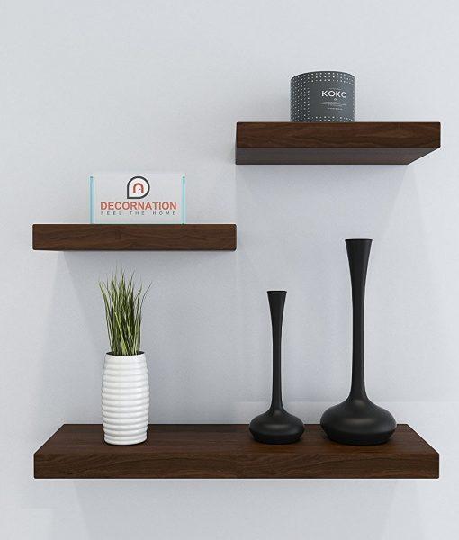 rich walnut wall decor unit for home decor