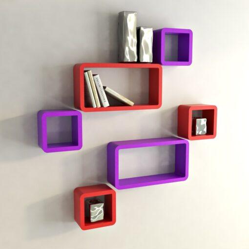 room decor wall racks red purple online india