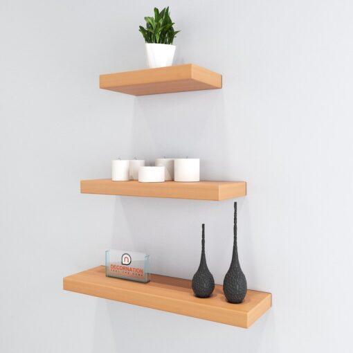 set of 3 display unit bavarian beech