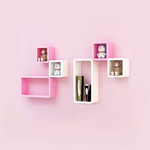 set of 6 wall shelves for home decor
