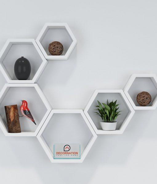 set of 6 white wall racks online india