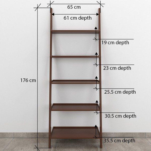single brown ladder shelf online india