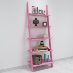 single decorative pink ladder shelf