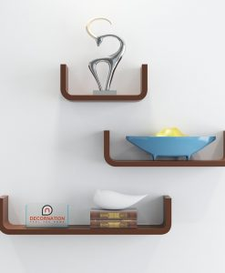 wall display shelves brown for storage