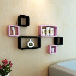 wall racks in black and white-color for storage and display