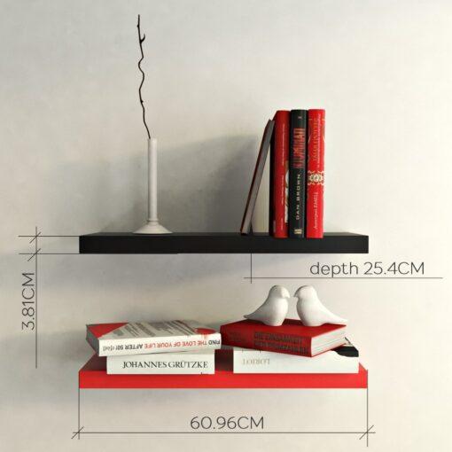 wall shelf bracket red black for sale