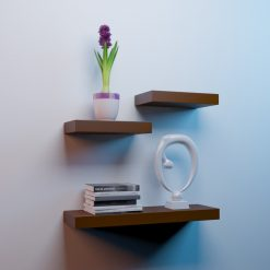 wall shelf unit for home decor brown