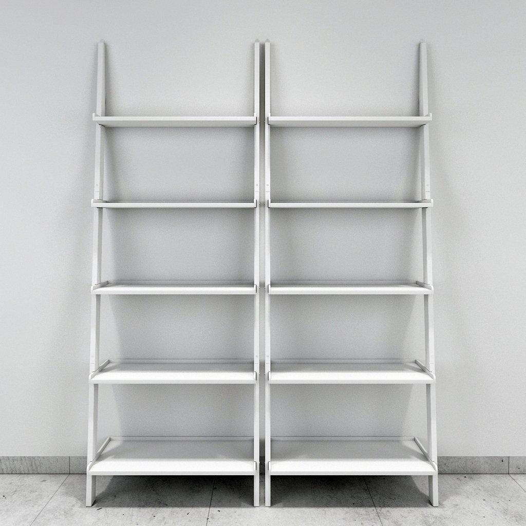 White Set Of 2 Ladder Shelf For Home Decor
