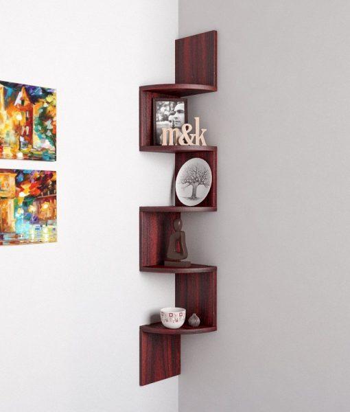zigzag corner storage display unit rio rosewood