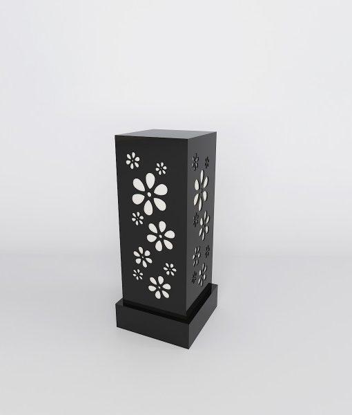 Bedside lamp soothing floral pattern black decornation black floor lamps for sale online aloadofball Image collections