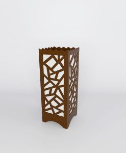 brown multi polygon table lamps for sale