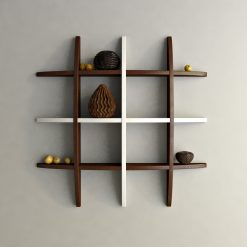 brown white wall display unit for sale