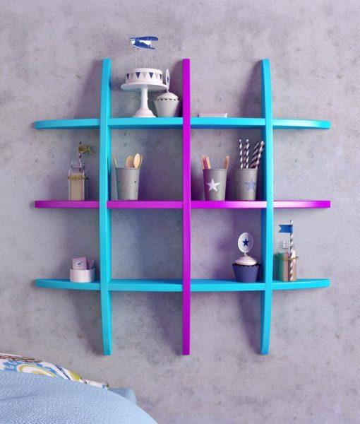 buy purple skyblue wall rack online india