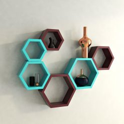 buy decornation hexagon wall shelves for living room
