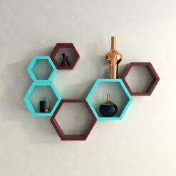 designer hexagon wall shelves for sale