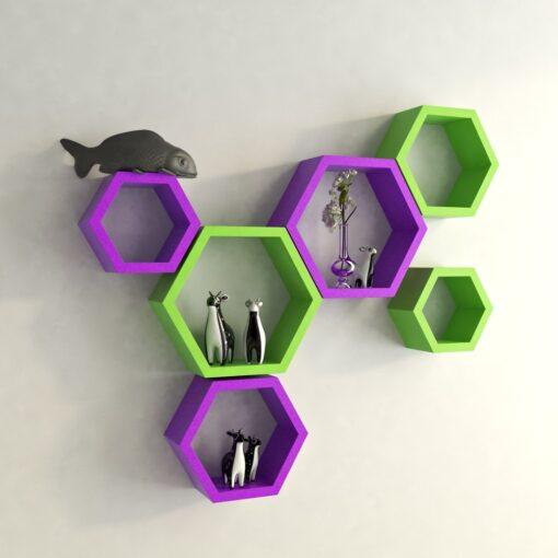 purple green wall shelves for sale
