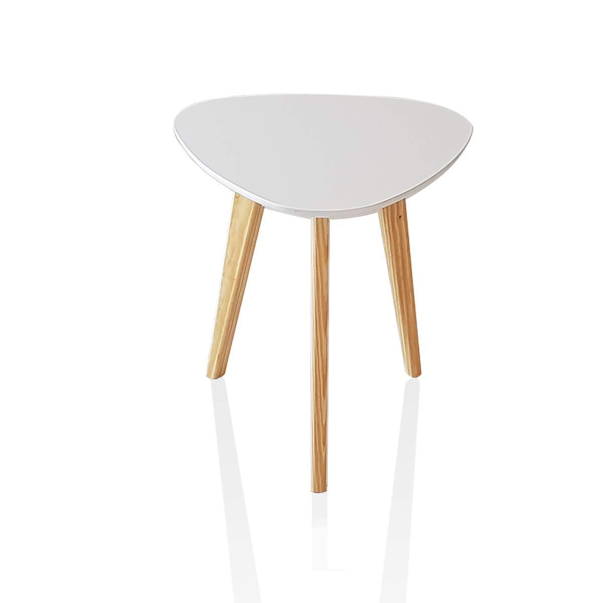 Wood Tripod End Table Stool Side Table Corner Table Sofa Side Table White