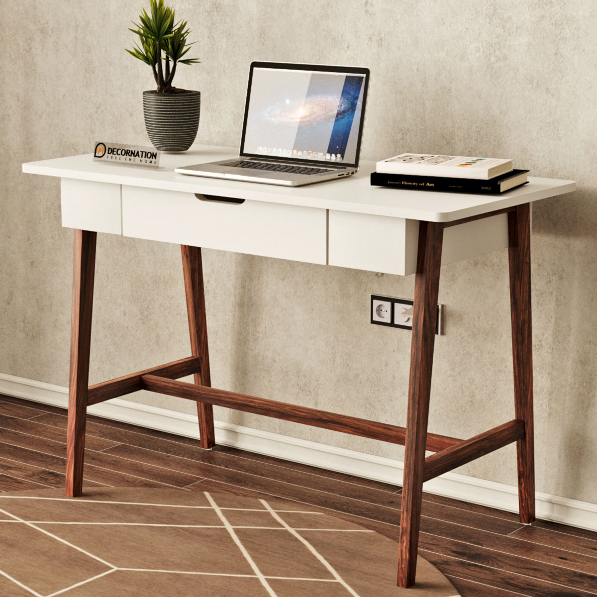 - Decornation Zane Wooden Computer & Study Table For Home Office