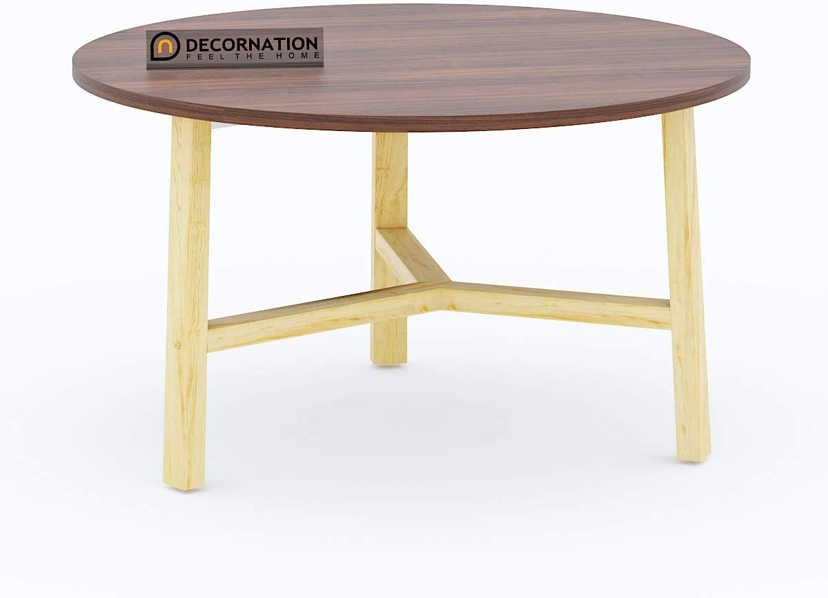 wooden mdf round table decornation